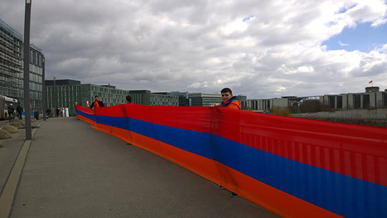 11. Armenian flag flashmob